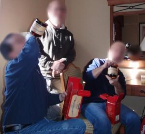 SHG Admins enjoying some Fine Alpha Centauri Rum