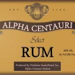 Fine Alpha Centauri Rum Label (from StarPirates)