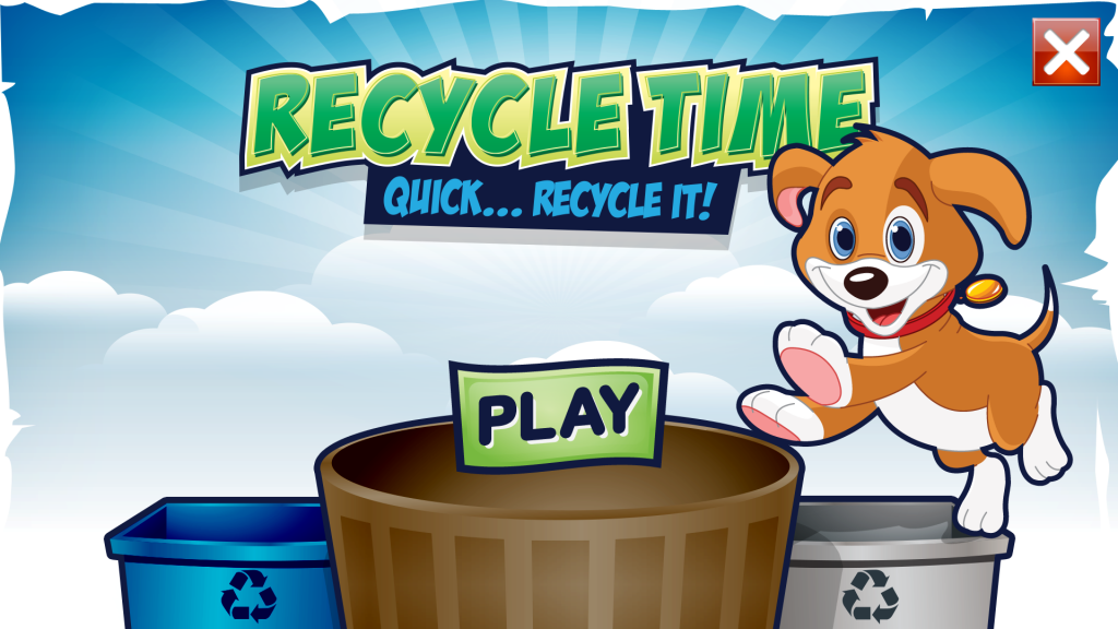 Title Screen for the Game Recycle Time
