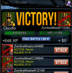 ZM 3.0 : Attack Screen